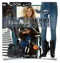 """Elsa Hosk -Model Style"" by goreti ❤ liked on Polyvore featuring Acne Studios, T By Alexander Wang, Yves Saint Laurent, STELLA McCARTNEY, Giuseppe Zanotti, CelebrityStyle and modelstyle"