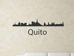 Quito Ecuador city skyline Vinyl Wall Art Decal Sticker JS Artworks http://www.amazon.com/dp/B00NJ2NXZ0/ref=cm_sw_r_pi_dp_Ldyjub0V8Z4F1