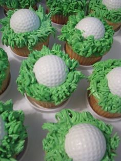Father's Day Golf Cupcakes Tutorials