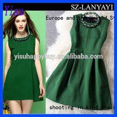 Hot Autumn&winter Women's grace Fashion Sleeveless dress