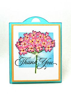 Thank You by Elizabeth Allan's Art Studio, via Flickr.  For additional card details, please visit:  http://elizabethallan-blog.blogspot.com/2012/12/a-thank-you-with-sweet-buds.html