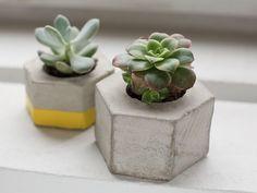Tutoriales DIY: Cómo hacer una maceta hexagonal de cemento vía DaWanda.com