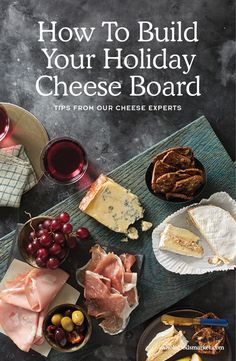 How To Build Your Holiday Cheese Board (Brie Cheese Plate) Christmas Appetizers, Christmas Desserts, Fun Desserts, Diy Christmas, Yummy Appetizers, Appetizers For Party, Appetizer Recipes, Charcuterie And Cheese Board, Cheese Boards