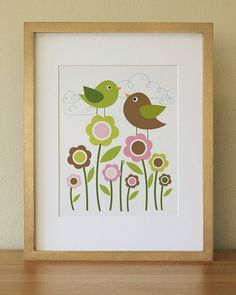 Bird  Baby Nursery Wall Art   Children Wall Art by Luliloola, $20.00
