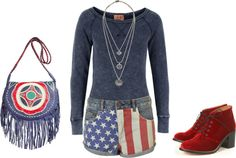 """usa baby (:"" by malusamia16 ❤ liked on Polyvore"