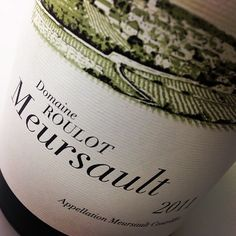masterful Meausault #Roulot #DomainRoulot #whiteburgundy #burgundy #wine
