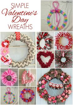 Looking for some easy DIY Valentine's Day wreaths to dress up your front door (or above your mantel, or you wall, or any blank space that needs something sweet)? I've got you covered! From candy hearts to tulle to paper and everything in between, these wreaths are sure to brighten your day. Head over to Carrie Elle to see all of these adorable and easy