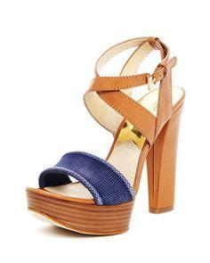 Nadina Platform Sandal, Luggage or Tan by MICHAEL Michael Kors at Neiman Marcus.