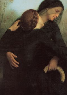 William-Adolphe Bouguereau, The Day of the Dead (detail). 1859.