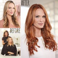Avant-Apres : Molly Sims new red hair before after