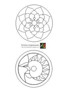 Nuevos Mandalas de Tutorial de Artesanía   Hace exactamente 5 años y 4 meses publicamos un post con moldes en el tutorial para realizar Ma... Adult Coloring Pages, Coloring Sheets, Cd Crafts, Cd Art, Stencils, Decorative Plates, Embroidery, Pattern, Blog
