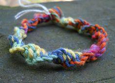 Rainbow Spiral Hemp Bracelet by PeaceLoveNKnottyHemp on Etsy, $5.50