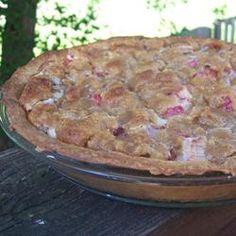 sour cream pie allrecipes com more rhubarb sour cream pie cream pies ...