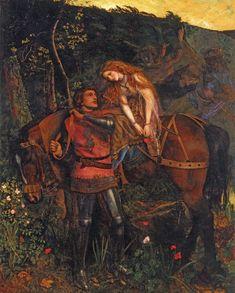 """Arthur Hughes, """"La belle Dame sans Merci"""", 1861-1863, oil on canvas, private collection"""