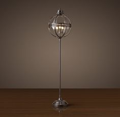 The bronze finish isn't quite iron but I doubt anybody would nit pick or notice. Victorian Hotel Floor Lamp