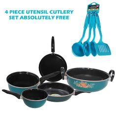 Get 40% OFF ON 5 Pcs Double Coated Induction Friendly Cookware Set