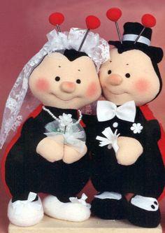 pareja de novios mariquitas, originales, divertidos y graciosos, para tu boda o para regalar