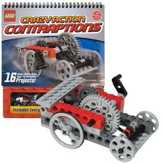 Probably better for when he a little older but I really like the concept. Klutz LEGO Crazy Action Contraptions by Klutz - $19.95