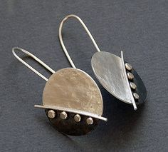 Sterling Silver Disc Earrings by Kailajewellery on Etsy