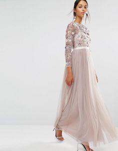 Needle & Thread | Needle & Thread Tulle Floral Gown