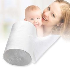 Safety Baby Flushable Biodegradable Disposable Cloth Nappy Diaper Bamboo Liners 100 Sheets 1 Roll 18cmx30cm for 3-15Kg Baby
