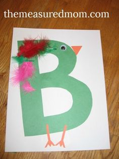 Letter B Art Projects for Preschoolers