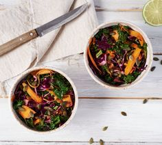 Kohl-Karotten-Salat mit Limettendressing
