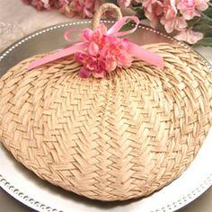 """Medium Buri Palm Leaf Hand Fans-- $1.50 each for medium (11"""" wide)    myweddingaccents.com"""
