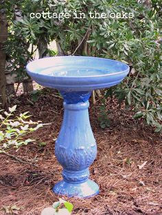 french blue birdbath