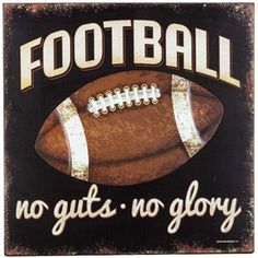 Kick off a perfectly-decorated man cave or sports-themed bedroom with this Football Wood & Embossed Metal Wall Plaque! This distressed black MDF plaque features whtie and tan text and a distressed emb Football Room Decor, Football Rooms, Football Bedroom, Football Crafts, Football Stuff, Wall Decor Online, Wood Wall Decor, Chalkboard Art, Bedroom Themes