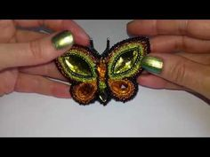 "Брошь Бабочка. DIY. Brooch "" Butterfly"" - YouTube"