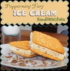 Easy Peasy Pudding and Pie!: Peppermint Tart Ice Cream Sandwhiches