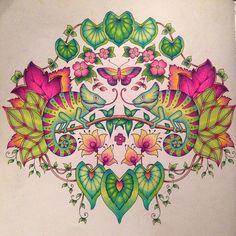 #magicaljungle #johannabasford #coloring #adultcoloringbook #lostocean #enchantedforest #secretgarden #prismacolor #fabercastell #polychromos