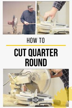 Quarter round is used for a wide variety of trim projects. Learn how to cut a quarter round with our guide. It's an attractive trim and relatively easy to do, even for beginners. Diy Projects For Men, Wood Projects For Beginners, Diy Wood Projects, Furniture Projects, Diy Furniture, Woodworking Guide, Woodworking Workshop, Woodworking Projects Diy, Interior Design Trim