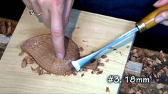This is a beginning video that shows how to shape a simple leaf. The design is cut out on a scroll saw, attached to a backer board and carved in 1 inch thick...
