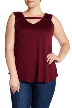 Wish it was a brighter color!! Knit Tunic Tank (Plus Size) by H.I.P. on @nordstrom_rack