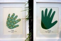 Handprint cutouts: I can see doing this annually, like a growth chart! letas
