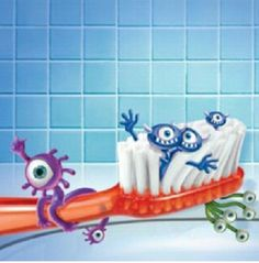 Make sure you at least replace your toothbrush every 6 months. If not replaced bacteria could be living on your toothbrush.