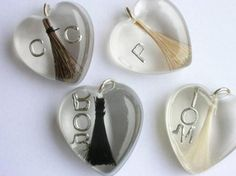 Personalised horsehair jewellery by shpangle jewellery, via Flickr