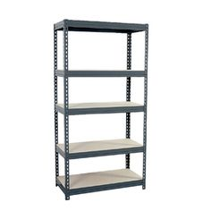 Edsal 72-in H X 36-in W X 18-in D 5-tier Steel Freestanding Shelving Unit Cr3618