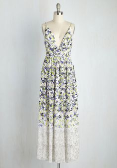 Divine Arts Degree Dress. In this floral maxi dress, you put the muse in museum. #multi #modcloth