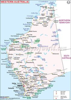Western Australia Map...you can see I live on the beach just south of Perth in Rockingham