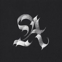 36 days of type una lettera al giorno, immaginata da svariati graphic designer Gothic Lettering, Tattoo Lettering Fonts, Graffiti Lettering, Types Of Lettering, Lettering Styles, Typography Letters, Lettering Design, Typography Served, Caligrafia Copperplate