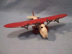 Vintage Marx Pressed Steel 4 Engine Toy Airplane                 #Marx