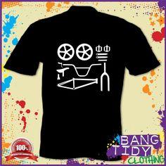BMX Parts T Shirt Bike Biker Skater Indie Funny Mens | eBay