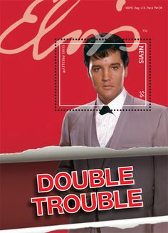 Elvis Presley Stamps | ELVIS PRESLEY MOVIE SERIES-DOUBLE TROUBLE RED S/S $6 stamps