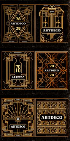 11 ArtDeco Badges & Frames by Cruzine on Creative Market
