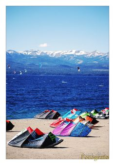 KiteSurf in Bariloche by Bonfire22 on DeviantArt #kitesurfing #kiteboarding #travel