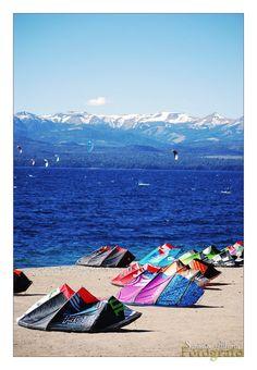 KiteSurf in Bariloche by Bonfire22 on DeviantArt #kitesurfing #kiteboarding #travel