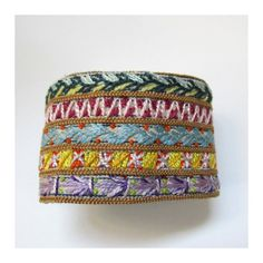 Hand+Embroidered+MultiColored+Cuff+by+MadrigalEmbroidery+on+Etsy,+$36.00